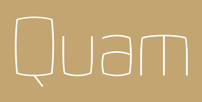 Quam typeface - Designed by Michael Parson - Typogama type foundry