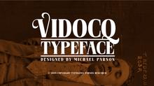 New free font release: Vidocq