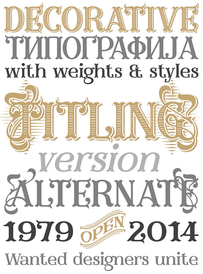 Furius typeface - Designed by Michael Parson - Typogama type foundry