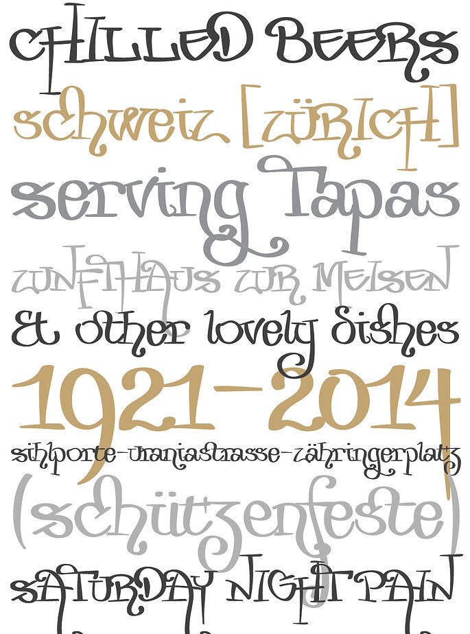 Zurika typeface - Designed by Michael Parson - Typogama type foundry