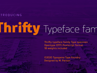 New font release: Thrifty