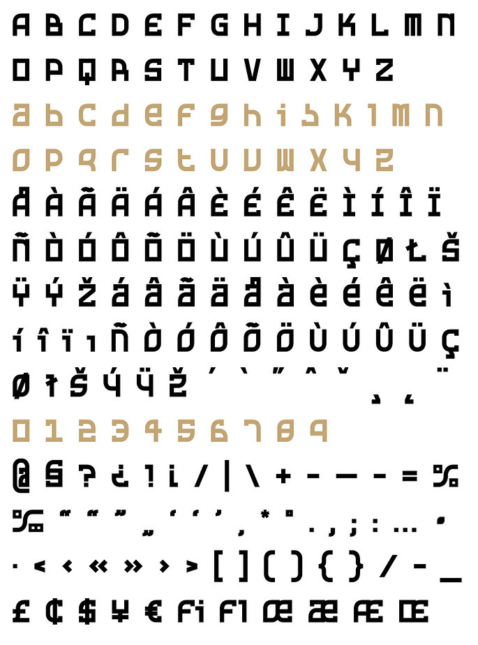 Rusty typeface - Designed by Michael Parson - Typogama type foundry