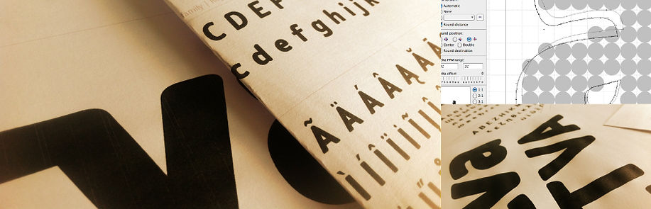 Typogama design process three