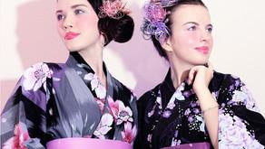【花火】夜の夏祭りに キラキラ光る水引髪飾り