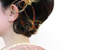 【和装発表会】螺旋水引と洋風画家のスカーフのデコレーション