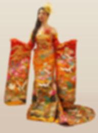 着物ロングドレス
