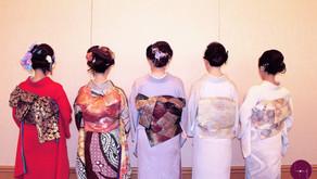 【和装パーティー】水引飾りと様々なお着物