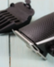 Canva - hair trimmer with attachment on
