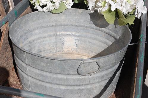 metal wash tub galvanized rustic serving vessel