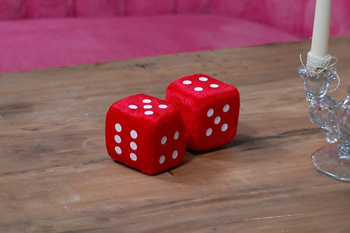 fuzzy dice, 50's, theme, decor, rental, prop