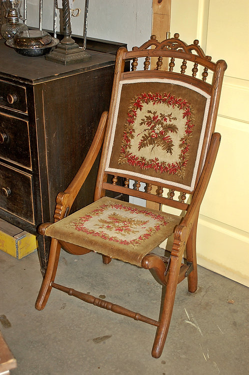 """Mabel"" Vintage Folding Chair"