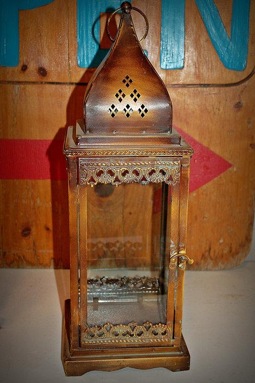 lantern, antique brass finish, lighting, decor, prop, event, rental