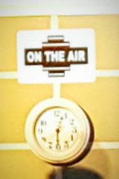 on the air, black and white, metal, sign, decor, rental