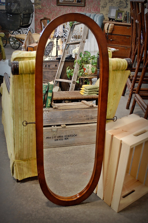 oval, dressing, mirror, display, decor, serving