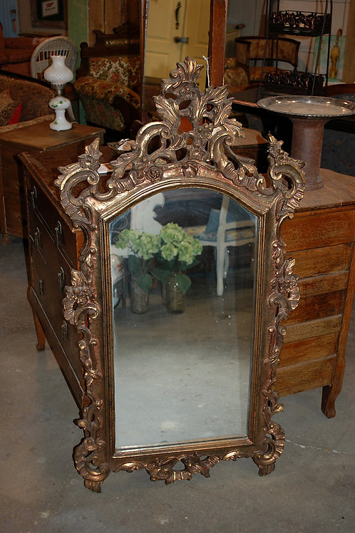 Ornate Bronze mirror