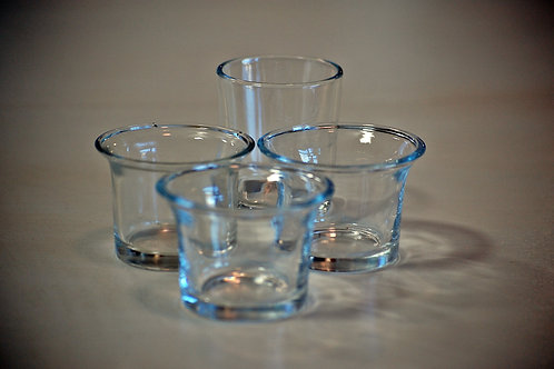 votive, clear glass, candle, table top, decor, rental