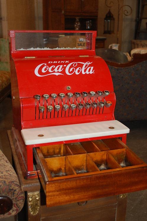 Coca Cola cash register, vintage, serving, decor, wedding, rental