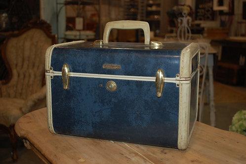 Sm.Blue w/wh.trim Makeup case