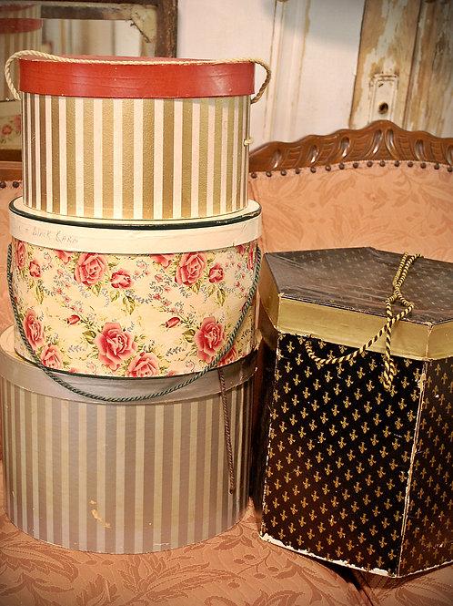 vintage, hat box, serving, decoration