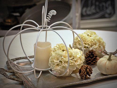 fall decor, candle holder, pumpkin, table top, center piece, rental