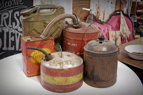 vintage, gas can, metal, rustic, decor, prop, rental