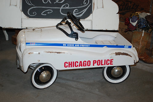 vintage pedal car chicago police child baby shower party event photography rental
