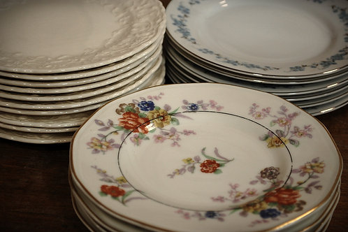 plate, bread & butter, mismatched, table decor, party, event, rental