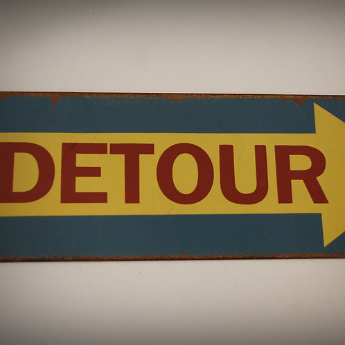 detour, sign, decor, display, table, party