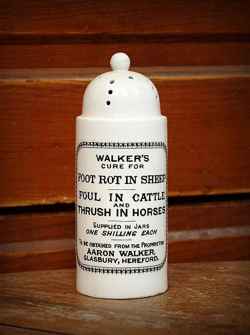 decorative, bottle, walkers foot rot, table top, rental