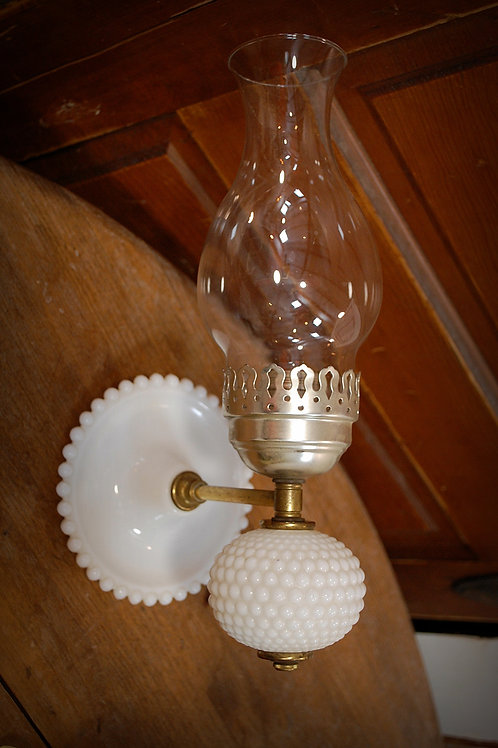 milk glass, hobnail, sconce, lighting, decor, prop, event, rental
