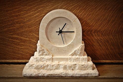 stone, clock, decor, mantle, rental