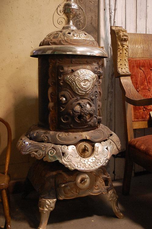 pot belly stove, cast iron, decor, rustic, wedding, rental