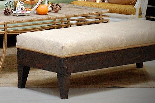 """""""Della"""" Ottoman w/tan upholstery {2-3 seat}"""