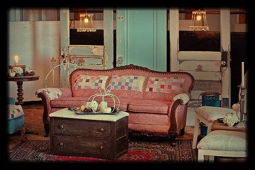 """Emma"" Pink Patchwork Sofa"