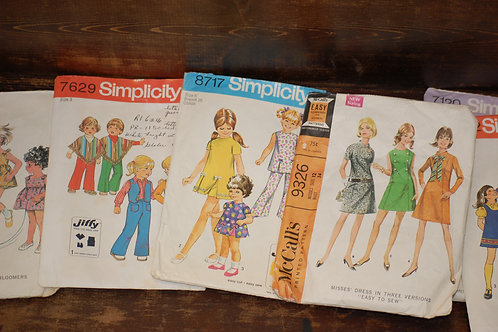 vintage, clothes, patterns, simplicity, mccall, decor, rental