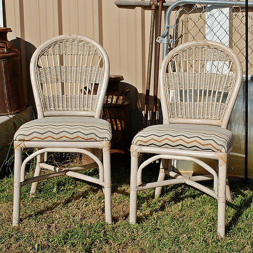 """Grace"" Cream Rattan Dining Chair"