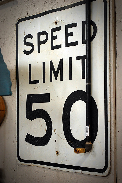 speed limit, sign, 50, decor, display, party theme