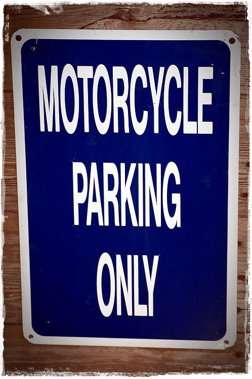 motorcycle parking only sign, theme, party, decor, reception
