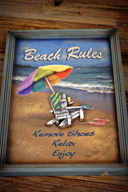 Beach rules sign party decor rental