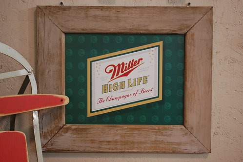 miller beer, sign, advertising, display, decor, party, event, serving, bar