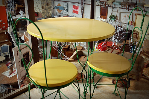 "Johnny"" Green & Yellow Table Set"