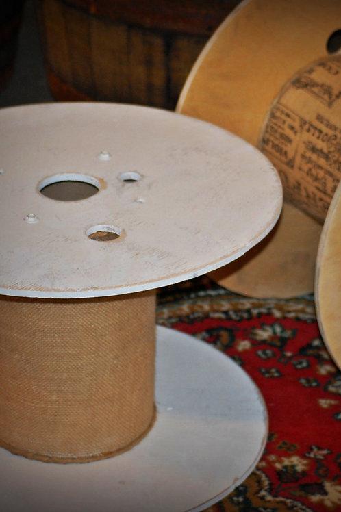 industrial spool, cupcake display, table, decor, wedding, rental