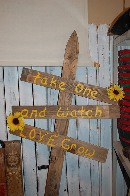 take one and watch love grow, sign, reception, gift