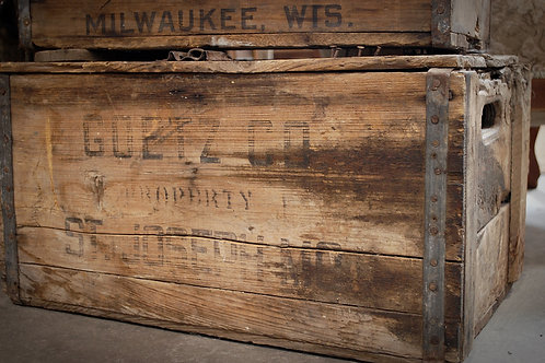 Goetz co beer crate, decor, table top, grooms table