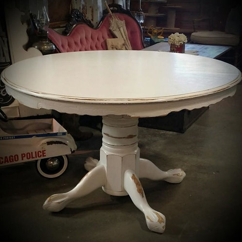 """Sylvie"" White Round Table"