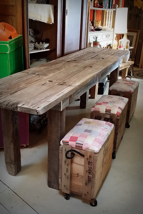 """Mae"" Barnwood Table"