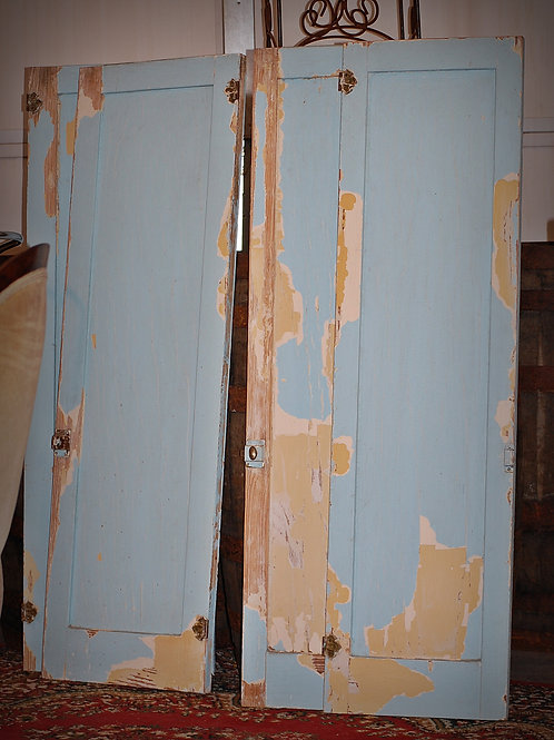 Blue Chippy Cabinet Doors
