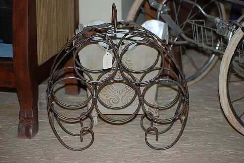 wine bottle stand, metal, table top, decor, prop, rental