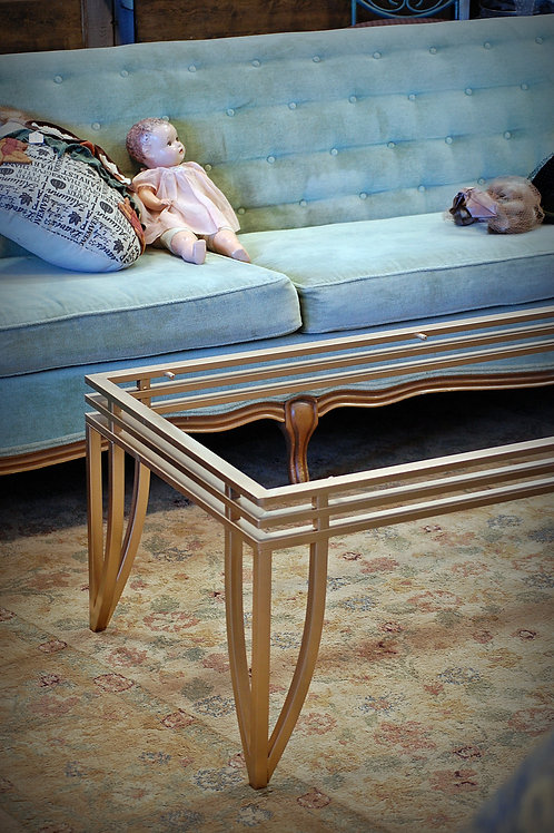 """""""Perry"""" Gold Coffee Table"""