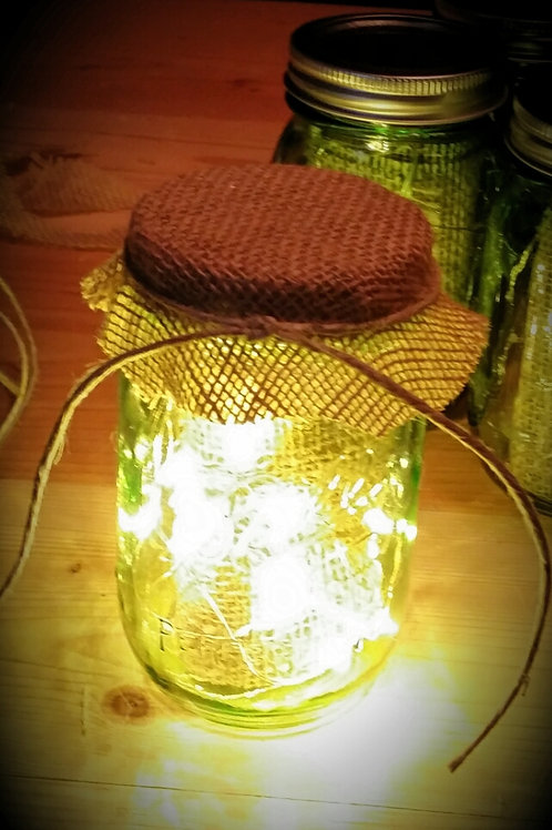 mason jar, fairy lights, table top, center piece, wedding, rental